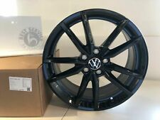 "Originale VW Leichtmetall-Felge "" Pretoria "" 18 Pollici Nero Golf Seat Leon Audi"