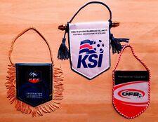 3 officiële vaandels wimpels FOOTBALL ASSOCIATIONS 3 official football pennants