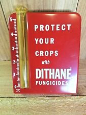 NOS VERY RARE Vintage Dithane Fungicide Advertising Rain  Weather Gauge