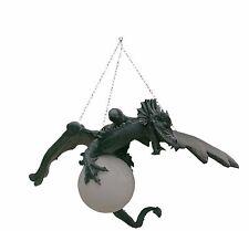 Drachenlampe Lampe Deckenlampe Hängelampe Figur Gothic Dekofigur Drache Groß 22