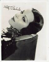 Kitty Carlisle Hand Signed Vintage Photograph 10 x 8