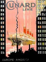 ART PRINT POSTER VINTAGE ADVERT TRAVEL CUNARD LINE NOFL1447