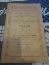 Paquebot Albertville Congo Belge - 1930 - Passage de l'équateur, programme fêtes