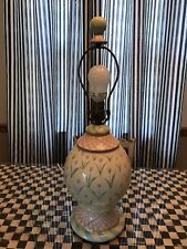 MacKenzie-Childs Aalsmeer Taylor Ceramic Tulip Table Lamp with Finial **EUC**