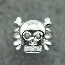 DIOR 18K white gold Skull Ring with Diamonds (16609)