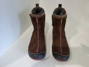 Clarks Womens Brown Suede Ankle Boots Size 8 M