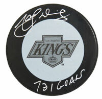 MARCEL DIONNE Signed Los Angeles Kings 1980's Style Hockey Puck w/731 Goals - SS