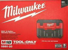 Milwaukee 0880-20 M18 2 galones vacío mojado/seco nuevo en la caja
