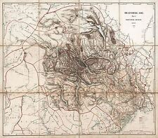MAP ANTIQUE 1846 MUNCH TELEMARK NORWAY OLD LARGE REPLICA POSTER PRINT PAM0305