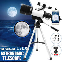 150X 70mm Aperture Astronomical Telescope Refractor Tripod Finder For Beginners