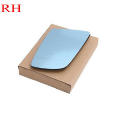 Right Blue tinted Heated Electric Wing Mirror Glass For BMW E60 E61 03-10