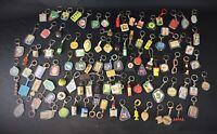 Gros lot 1 de 100 porte clefs collection publicitaire vintage