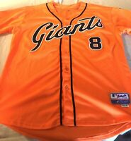 Hunter Pence #8 San Francisco Giants Majestic Embroidered Jersey Size 48