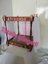 Princess Dog Bed with gemstones, handmade and personalised