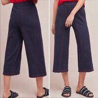 Anthropologie Saturday Sunday Womens Muse Wide Leg Sweat Pants Size XS Cropped