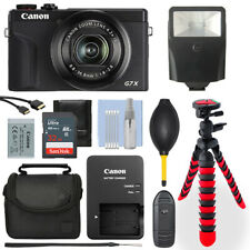 Canon PowerShot G7X Mark III Digital Camera Black+ 32GB Deluxe Accessory Package