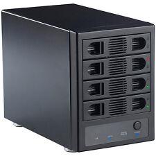 "Festplatten Turm: 4-fach-Festplatten-Gehäuse 3,5""-SATA mit USB 3.0, eSATA & RAID"