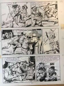 """TAVOLA ORIGINALE ZAGOR n. 114 """"La marcia della disperazione"""" pag, 12 - FERRI G."""