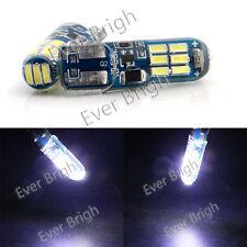 100Pcs White T10 W5W 194 168 3014 15SMD SILICA LED Strobe Flashing Led Light 12V
