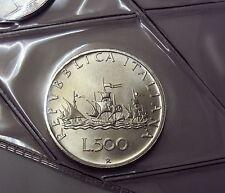 ITALIA REPUBBLICA 1988 500 LIRE CARAVELLE  PROVENIENTE DA SERIE ZECCA FDC