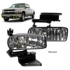 For Chevy Suburban Tahoe Clear Fog Lights Bumper Lamps Left & Right W/Bulbs