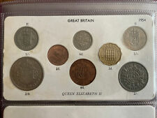 More details for 1954 great britain elizabeth ii coin year set half crown to farthing