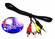 From OZ Quality 1PC 70CM AV 4 POLE Audio Video Lead to 3 RCA Male Plug Cable +FP