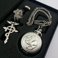 Cosplay Gift Fullmetal Alchemist Pocket Watch Necklace Ring Edward Elric Anime