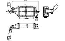 NRF Radiador de aire admisión OPEL ASTRA ZAFIRA VAUXHALL ASTRAVAN 30427