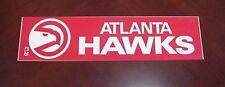 VINTAGE 1970s ATLANTA HAWKS BUMPER STICKER LARGE Unused Unsold Stock