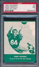 1961 Lake to Lake Packers #7 Gary Knafelc PSA 7 (FB01)