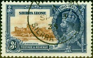 Sierra Leone 1935 3d Jubilee SG182 Very Fine Used
