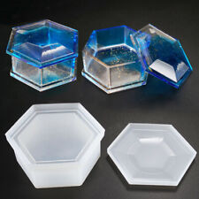 1PC Making Hexagon Box Silicone Mold Resin Casting Jewelry DIY Craft Epoxy Tool