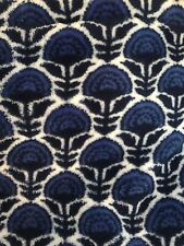 VERA BRADLEY Travel Blanket Fleece COBALT TILE BLOOMS #15564-580 New /Out Of Pkg