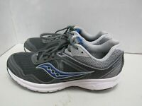 MENS SAUCONY GRID COHESION 10 GRAY BLUE RUNNING SHOES SIZE 11M X382