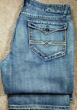 BUFFALO JEANS 'PLAYER B' RELAXED FIT-Med.Wash Denim, Mens 5.pkt Jeans-(38x31)