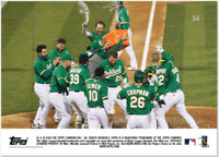 2020 MLB Topps Now #56 PISCOTTY Athletics Oakland A's 2nd Walk-off GRAND SLAM