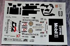 DECALS 1/43 BBR MERCEDES CLK AMG WARSTEINER NANNINI TIEMANN PJ138B Cartograf