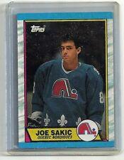 Joe Sakic 1989-90 Topps Quebecc Nordiques RC ROOKIE Card #113