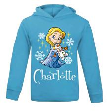 Personalised Elsa Kids Lightweight Hoodie Novelty Frozen Disney Princess Child