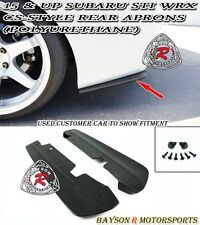 CS-Style Rear Aprons (Urethane) Fits 15-18 Subaru WRX STi VA1 VA2 4dr