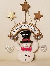 Kurt S Adler Millenium Year 2000 Snowman Christmas Ornament Collectible