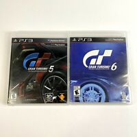 Gran Turismo 5 & 6 (Sony PlayStation 3, PS3, 2010 & 2013) Racing Simulator Games