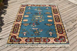 Turkish AMAZING Rug 56''x73'' Vintage Fashion Carpet 145x187cm Oriental Wool Rug