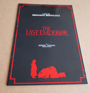 THE LAST EMPEROR 1987 PRESS BOOK 28 pages LUXURY