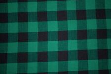 Gingham Poplin Print #19 Cotton Lycra Spandex Stretch Woven Apparel Fabric BTY