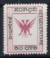 Albanien 1917 Mi. 9 Ungebraucht * 100% Republik Korca, 50 CTS