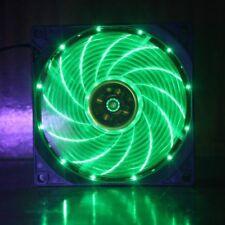 12CM 120mm 15x verde Luci LED Ventola Di Raffreddamento Case PC computer raffreddamento 3 Pin