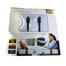 30m aktives 4K HDMI Kabel UltraHD 3D mit Signalverstärker 2160p V2.0 Litze100%Cu