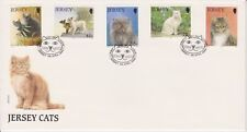 Unaddressed Jersey FDC First Day Cover 1994 Jersey Cats Set 10% off 5